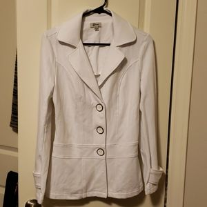 Guess stretch fit casual button jersey blazer